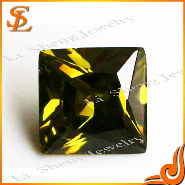 Finely processed synthetic Square olive CZ jewelry