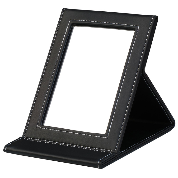 Custom PU Framed Foldable Compact Mirror