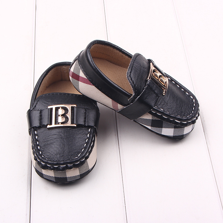 New Fashion Handsome Newborn Baby Kids Boy PU Leather First Walkers Shoes Infant Crib Babe Classic Leisure Soft Soled Loafer