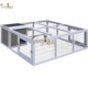 1 Story Tier Aluminum Rabbit Cage