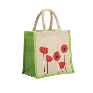 Eco friendly custom picture of jute sack fiber bag for storage