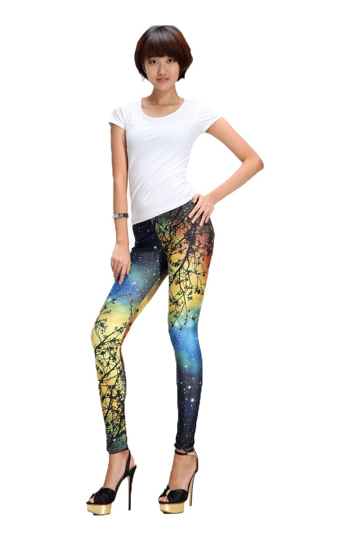 Buy Robe&Wedding Starry Night Leggings Trees Yoga Pants ...