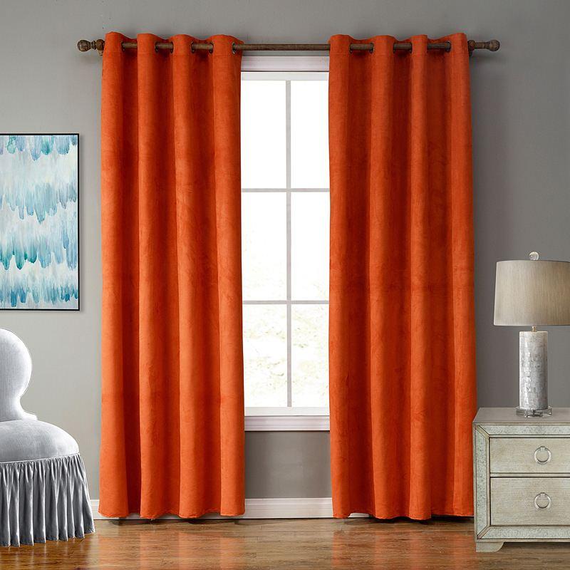 unikea pice en daim tissu solide couleur rideaux pour salon rideau pour chambre rideaux with. Black Bedroom Furniture Sets. Home Design Ideas