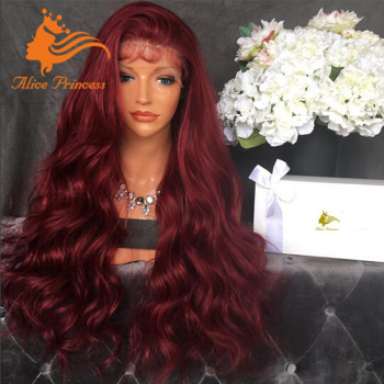 Virgin Red 180% Density Full Lace Wig Free