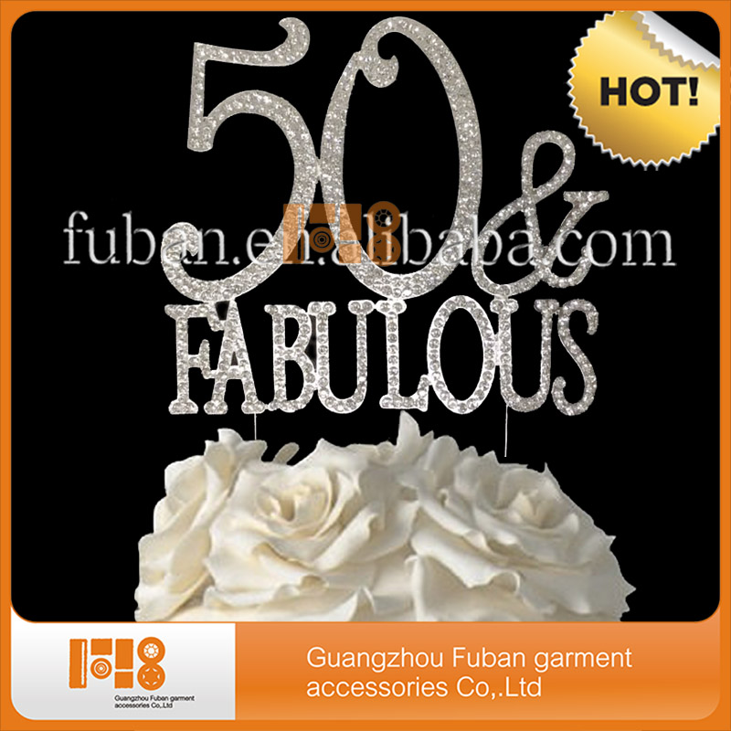Wholesale 50 Fabulous Cake Topper Birthday Decoration With