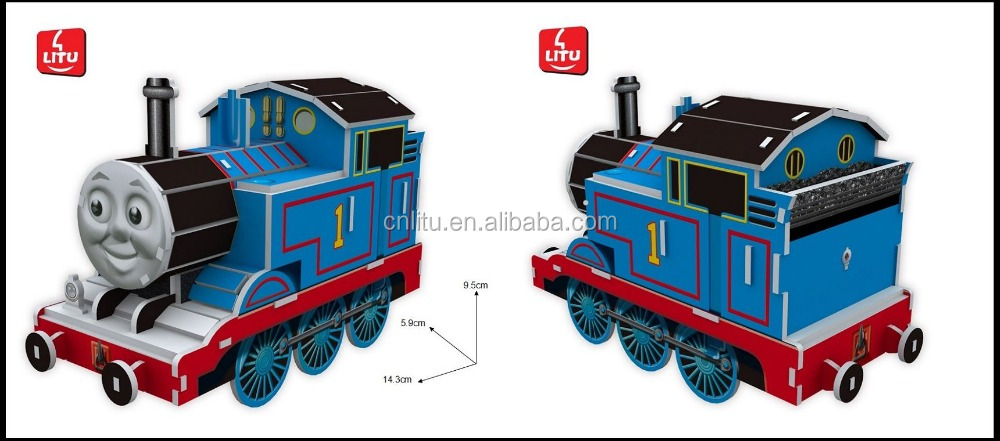 9341/3D puzzle THOMAS & FRIENDS 2/CARTOON TRAIN PUZZLE GAME/ EDUCATIONAL TOYS FOR KIDS/PAPER WITH EPS FOAM 3D PUZZLE