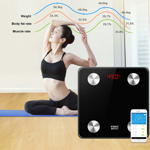 Bluetooth APP API High Precision Digital Bathroom Weighing Smart Body Fat Bmi Weight Scale Body Weighing Bathroom Scale with APP