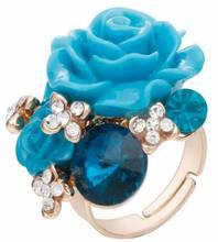 Модное кольцо из смолы, винная Роза, индивидуальное, Национальный стиль, Rhinstone, регулируемое, женское, Дамское, девичье кольцо, 8 цветов, стиль...(Китай)
