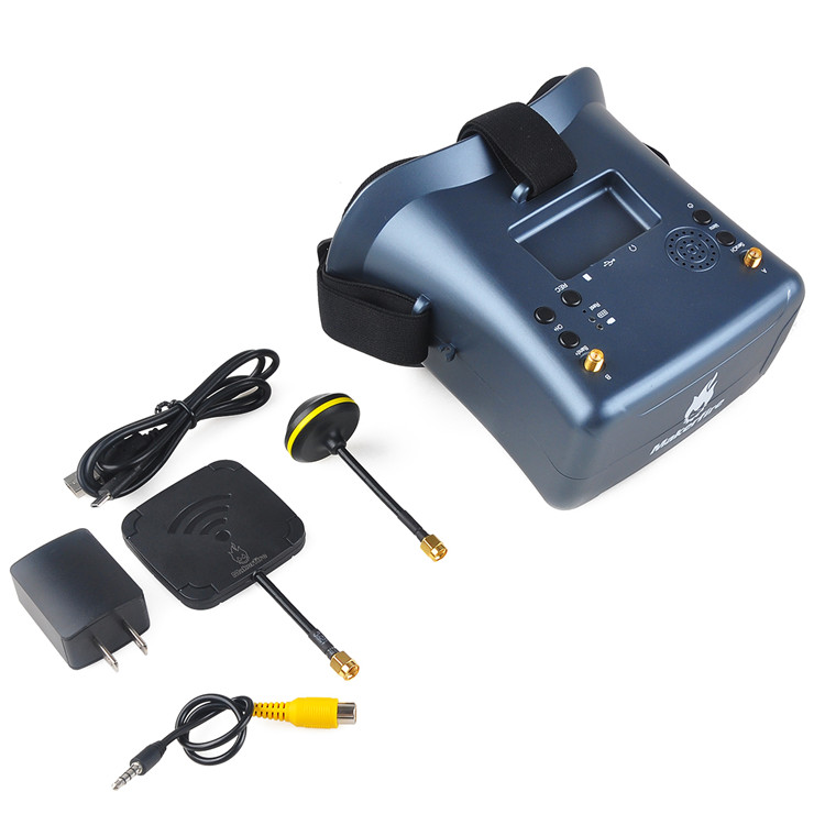 OEM Service 4.3 Inch 40CH VR008 fpv goggles 5.8ghz with DVR function