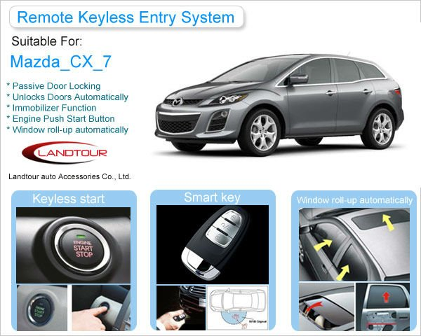 Passive Keyless Entry Pke Push Button Engine Start/stop For Mazda ...