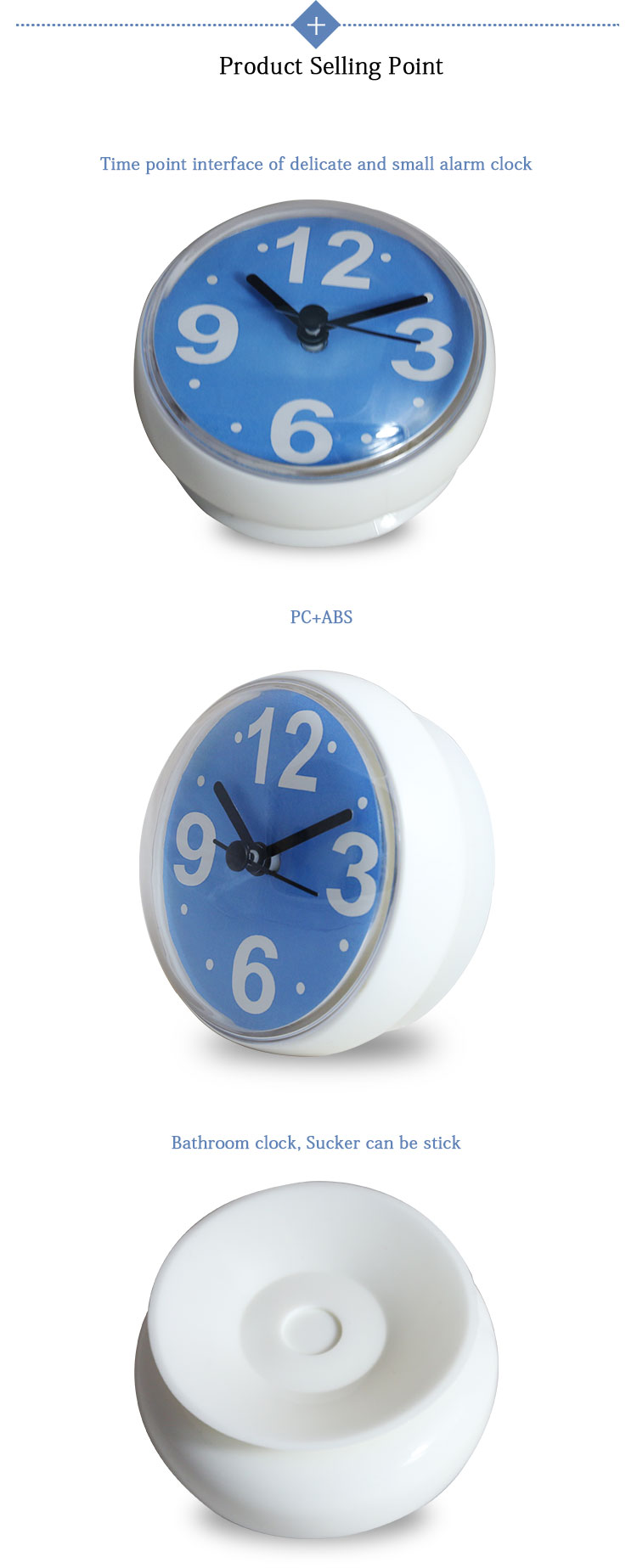 Cheap Bathroom Water Resistant Wall Clock With Sucker Buy Wall