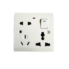 13A 8 pin multi function universal switch socket
