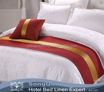 100% Cotton High Quality Hand Embroidery Bed Sheet For Hotel Use