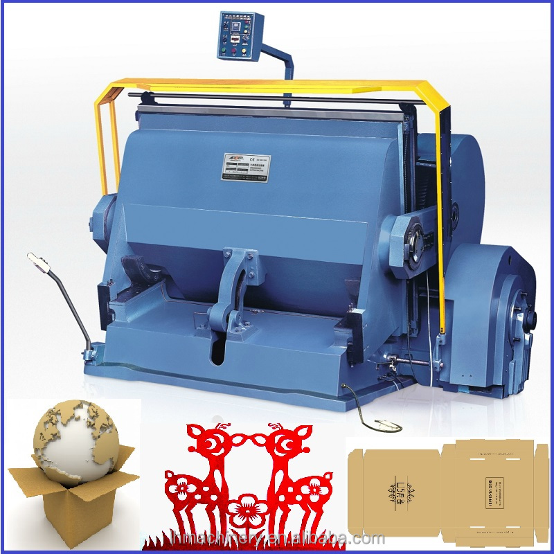 High Quality Platen press die cutting and creasing machine cardboard die cutter