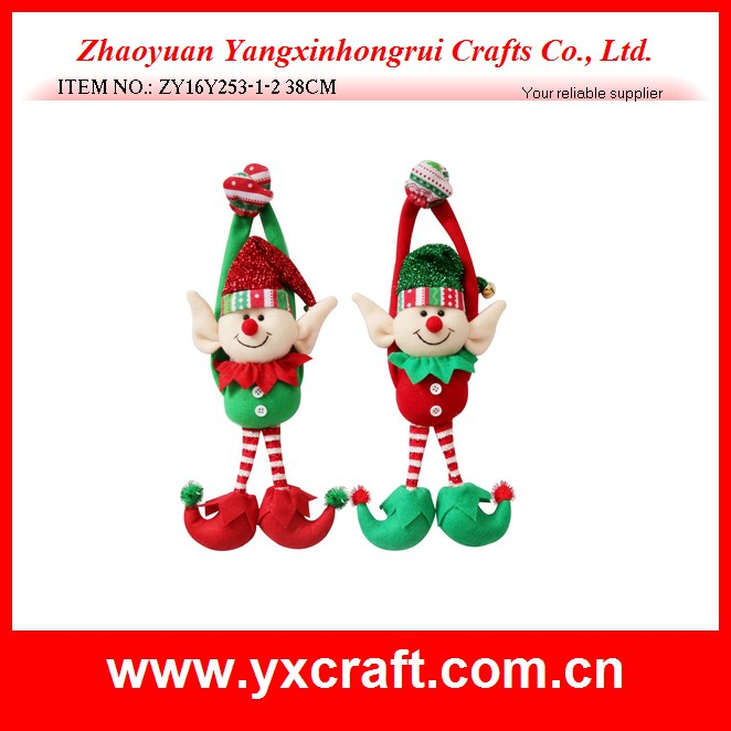 Christmas decoration (ZY16Y253-1-2 38CM) christmas welcome decoration, hanging item christmas elf design