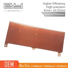 customized copper skived fin cpu heatsink