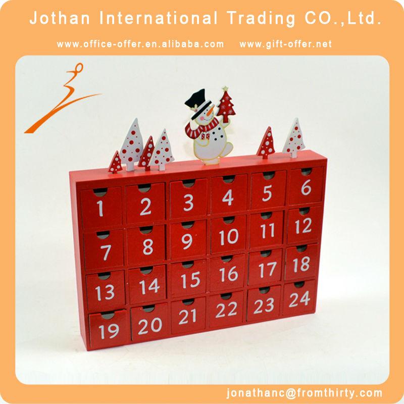 Plaza de madera calendario de adviento mu eco de nieve con - Calendario adviento madera ...