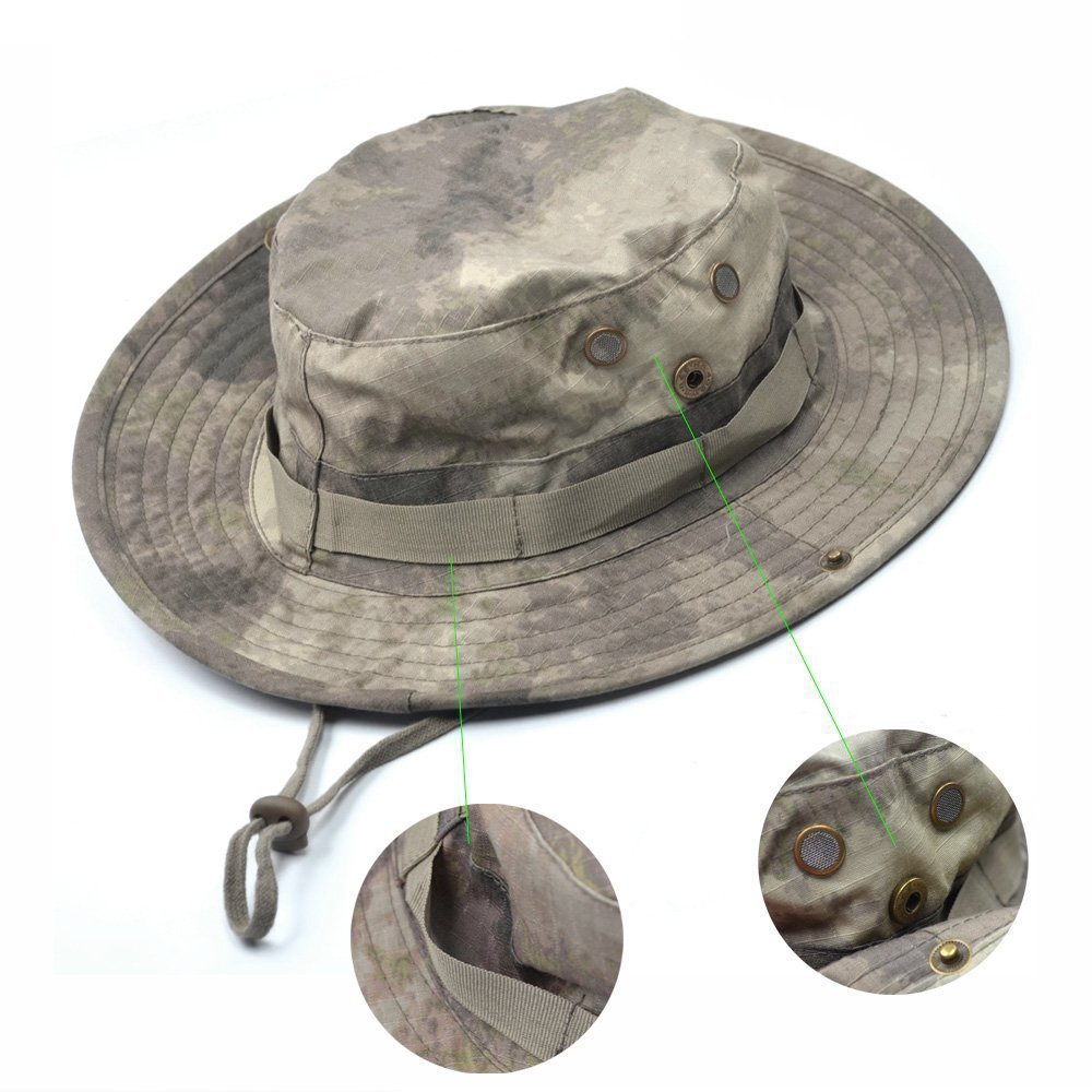 Generic Blue cell Tactical Head Wear/Boonie Hat Cap For Wargame, Sports, Fishing &Outdoor Activities (Acu Camouflage)