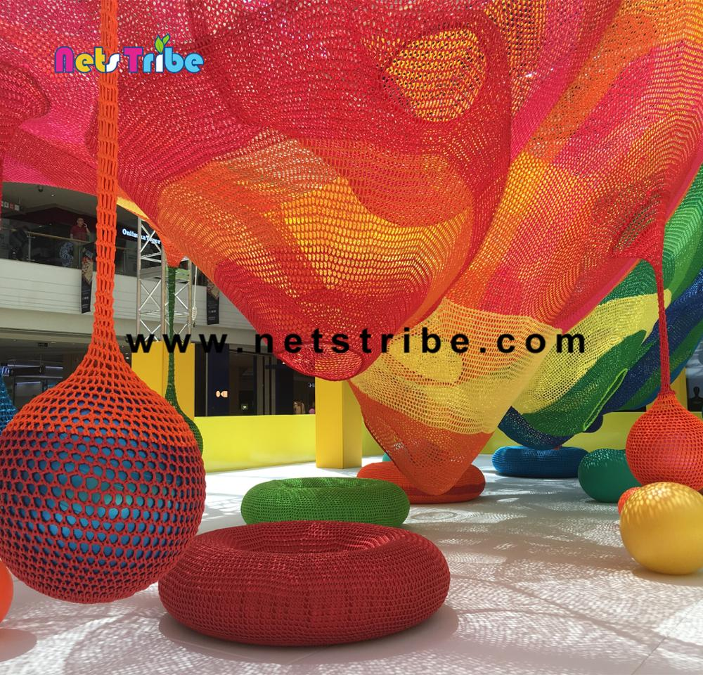 New style colorful climbing rope nets playground kids amusement park accessories