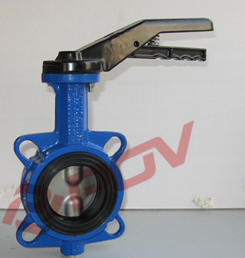 DI wafer butterfly valve handle operated valve pneuamtic