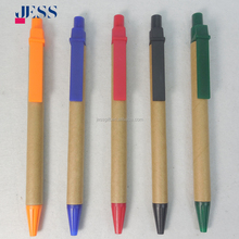 Factory Directly Sale Cheap Promotional Eco Friendly Biodegradable Kraft Paper ballpoint pen