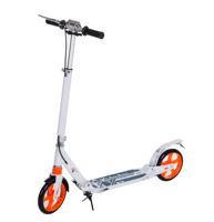 High quality cheap urban kick scooter with two 200mm big PU wheel adult pro kick foot pedal scooter for sale