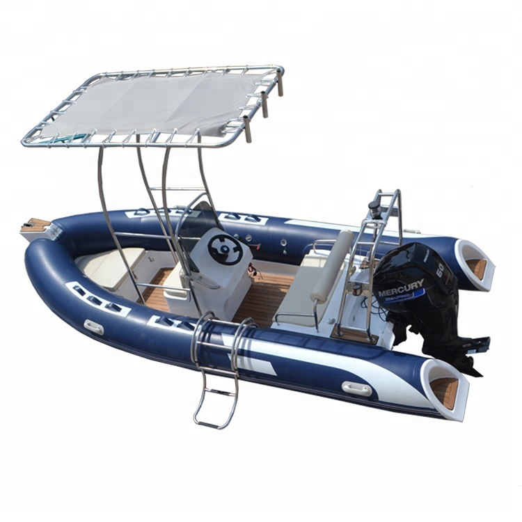 CE 60hp Outboard motor Hypalon or pvc 4.8m rib inflatable <strong>boat</strong> for sale