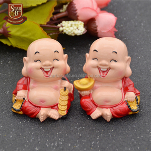 Feng Shui collectible Chinese happiness wealth laughing resin buddha sculpture