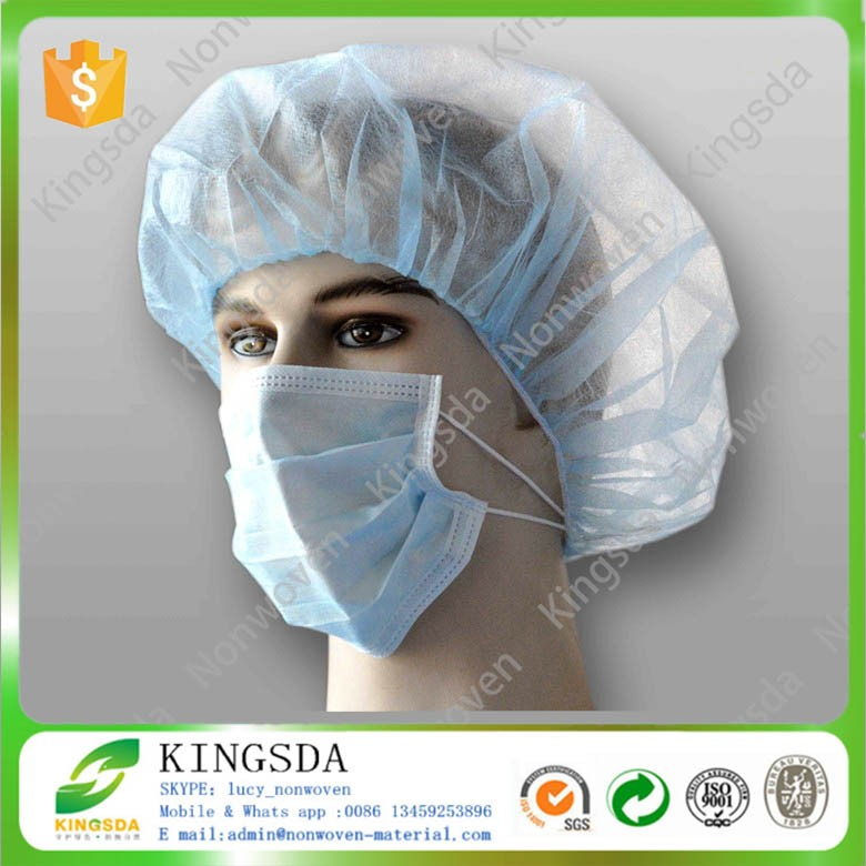 New Design disposable non woven fabric 3 ply face mask and medical cap for surgical use