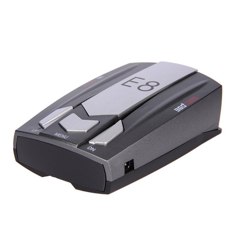 E8 Car Radar Detector Safety Anti-Police Scanning Advanced Voice Alert Laser LED speed control detector E dog