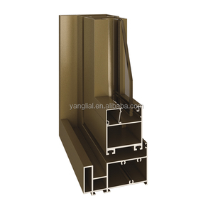 Aluminum window frame profiles for folding window