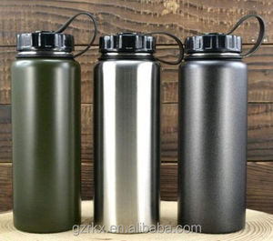 40oz Hydro Double Wall Stainless Steel Water Bottle with Lid,Vacuum Insulated Wide Mouth Stainless Steel leak Proof Water Bottle