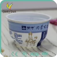 Food grade disposable PP sealable plastic food container the yogurt bowl