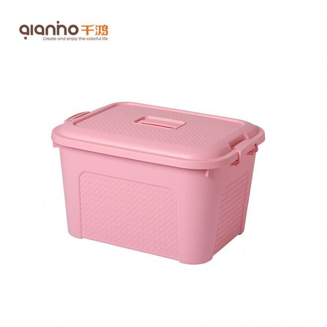 Delightful Container Box Plastik Classroom Baby Clothing Storage Basket For Toys With  Lid And Handle