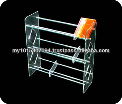 Clear Acrylic CD display / holder DVD stand