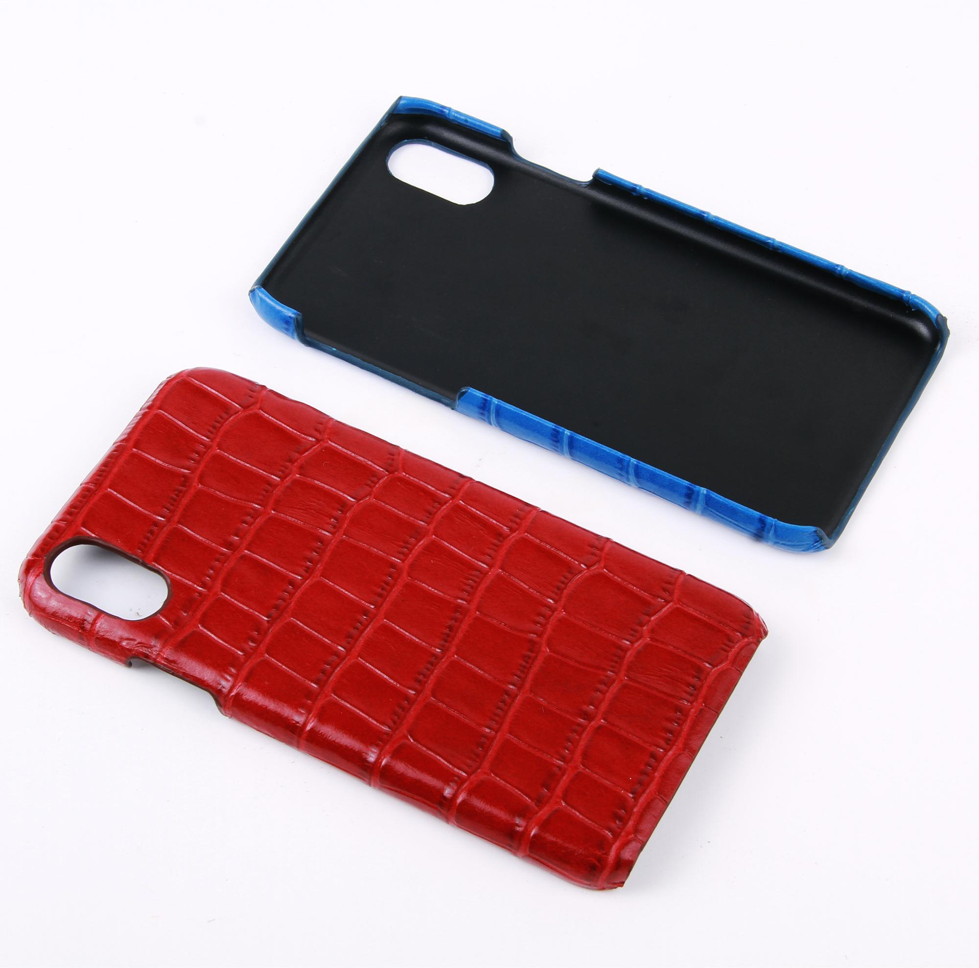Embossed Croc Leather Phone Case