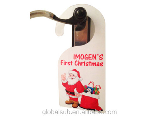 MDF sublimation door hanger for 2016 Christmas decoration