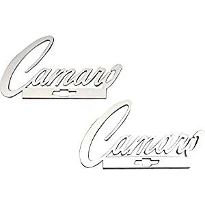 Eckler's Premier Quality Products 33188272 Camaro Taillight Panel Emblems Camaro Script Logo With Bowtie Stainless Steel