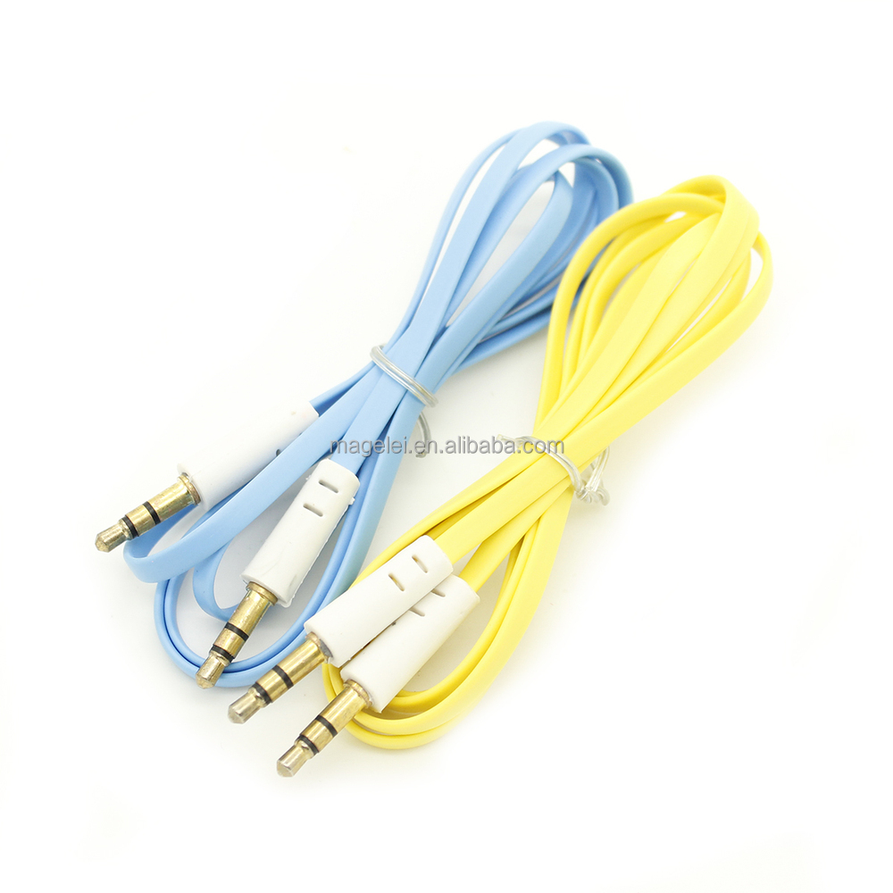 Colorful 1m 35mm Audio Aux Cable Buy Cableaudio Cable35mm 3 Channel Splitter Product On Alibabacom