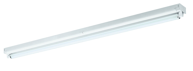 Lighting by AFX S196HOE12 Commercial Grade High Output 1-96 Watt T12 Light Strip, White Enamel Steel Chassis