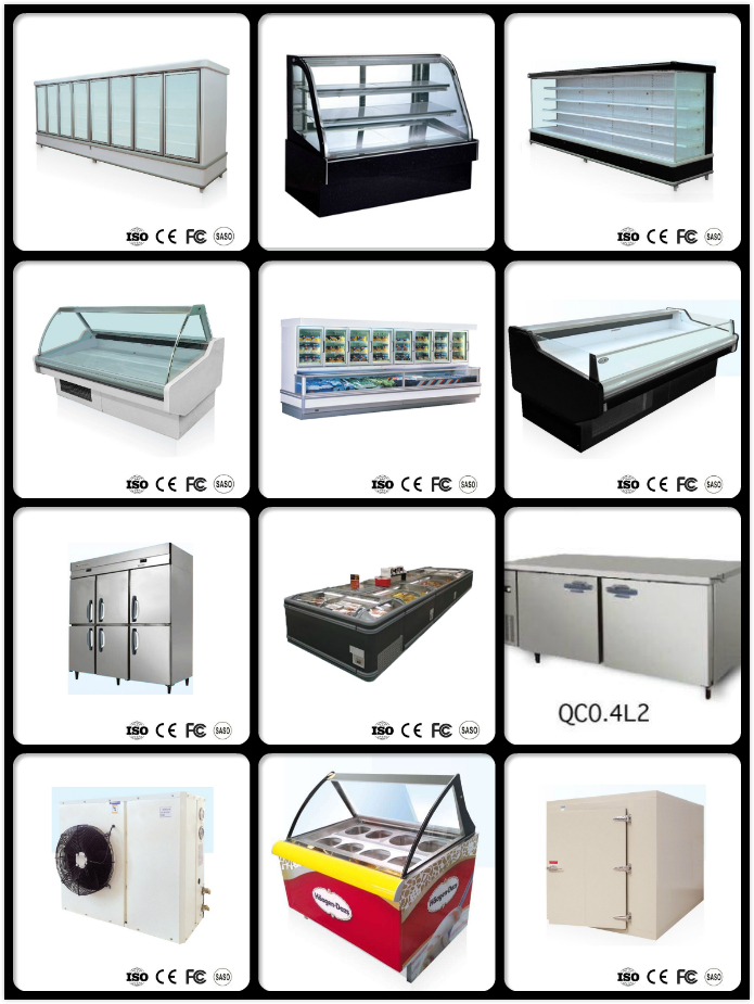 2.0 Meter High Quality Supermarket Deep Chest Island Freezer