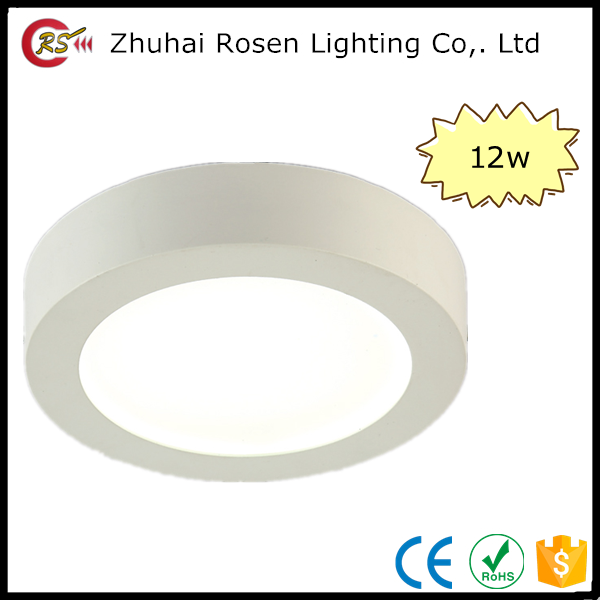 cheap OEM dimmable aluminum round 12w surface mounted led panel ceiling light
