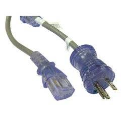 Dealsjungle Hospital Grade, Green Dot, Power Cord, Nema 5-15 to C13, 14 AWG, SJT, 15 Amp / 125 Volt, 10 Foot
