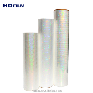 22Mic Bopp Transparent Holographic Hot Laminating Film With Eva Coated