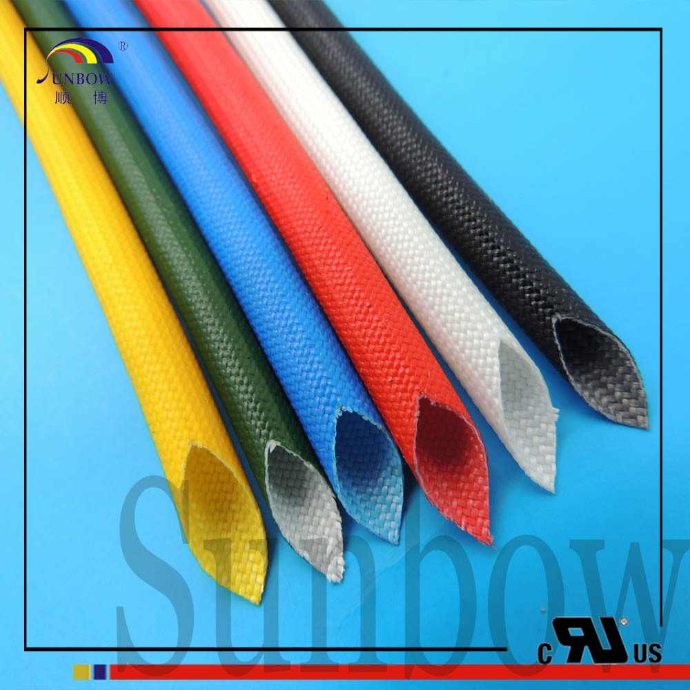 UL1441 VW-1 Silicone coated glass fiber Electric Wire thermal insulation sleeve