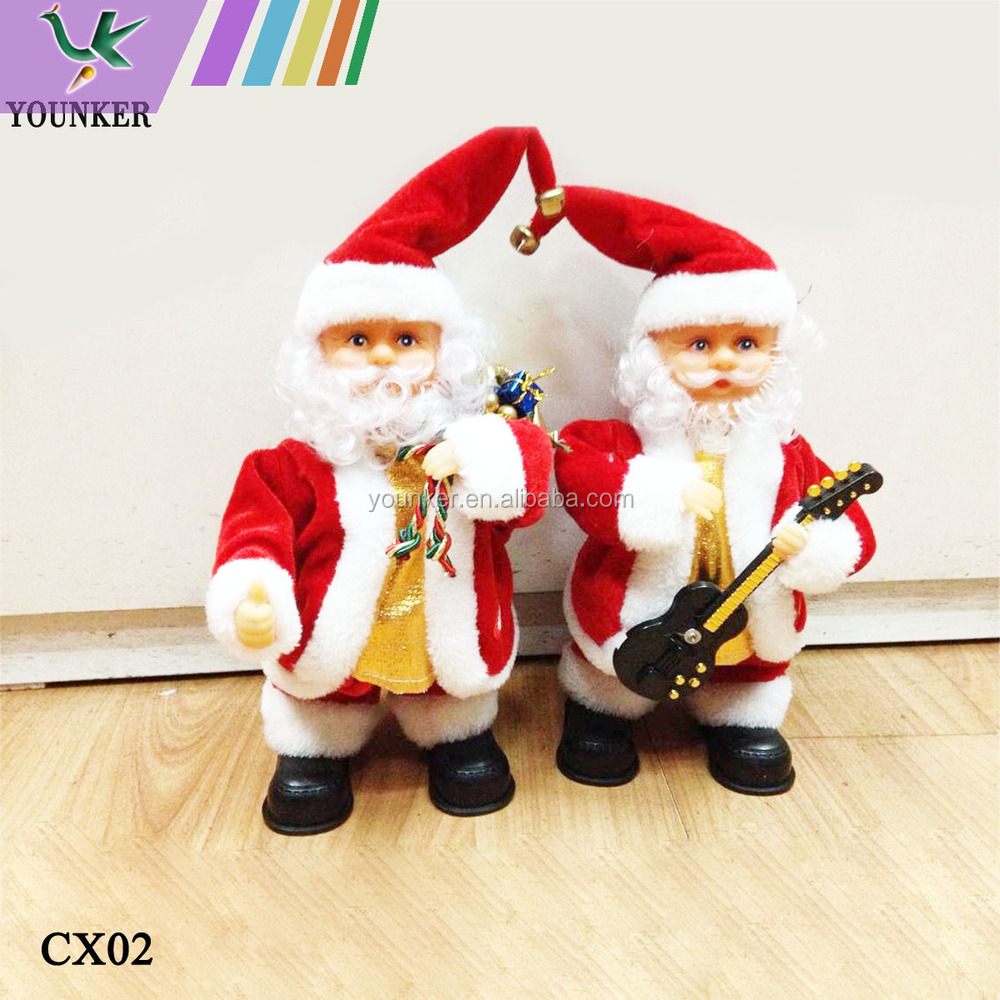 9564da57cefb2 12 Inch Power Singing And Dancing Christmas Cap Playing Santa Claus ...