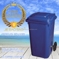 JIE BAOBAO! FACTORY MADE HDPE RECRANGULAR PUBLIC PLASTIC 100L BLUE DRUM SCRAP