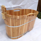 japanese cheap teak wooden frame bathtub/ wooden barrel bath tub/ outdoor wood soak tub