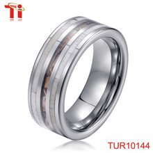 Dongguan Aohua Jewelry TUR10144 Tungsten carbide Deer Antler & Camo inlaid wedding bands couple ring