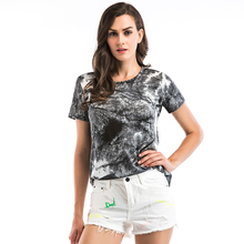 New style Ladies t loose printed short sleeve t-shirt woman